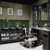 Barberfurniture | Classic black | Oldschool barberunit | Salonfurniture | USA | Milwaukee
