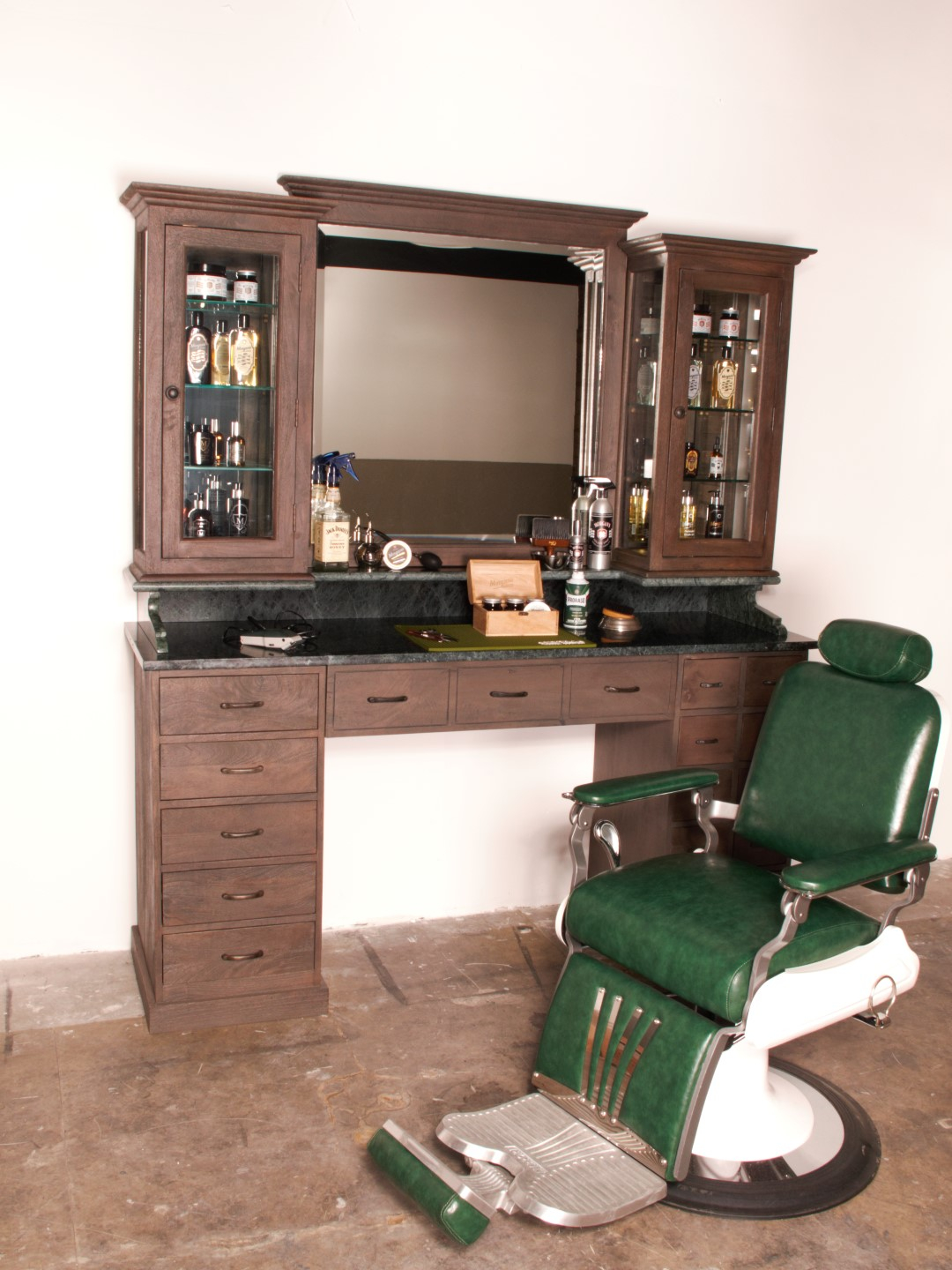 Barberstation | Workstation | Vintage barberunit | US delivery | Best delivery | Barberfurniture