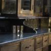 Vintage barberunit   Green marble   Barbershop furniture   USA   Oldschool salon furniture